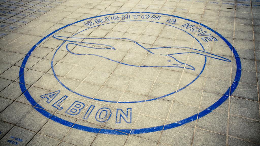 Logo Outside The Amex Community Stadium, Brighton