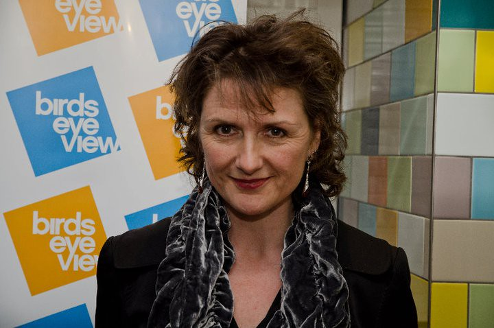 Linda Ruth Williams arrives for the Bloody Women Panel Debate