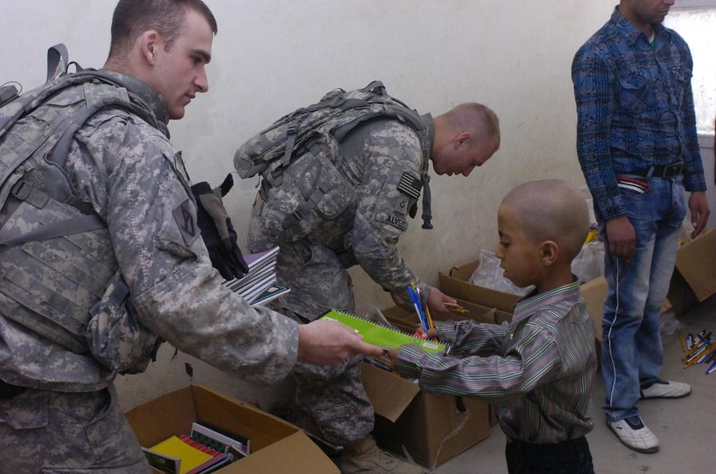 Humanitarian aid | Spc. Ryan Satterfield of 3rd Plt., Headqu… | Flickr