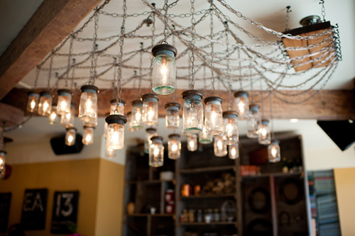 Marben restaurant light fixture | by Celine Kim