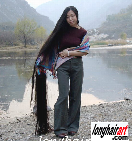 5 long-hair-Girl long-hair-lady long-ponytail longest hair ...
