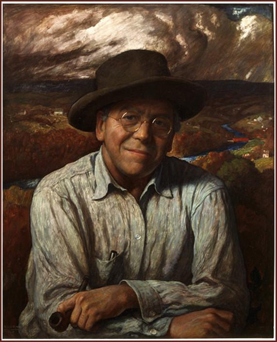 Quot Self Portrait Of N C Wyeth Quot 1940 N C Newell Convers