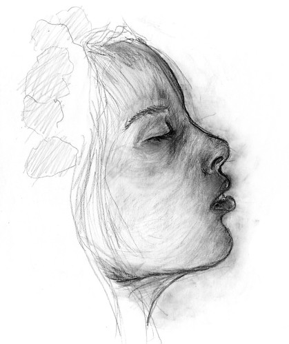 Side Face Line Drawing : Girl side view flickr photo sharing