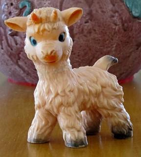 vintage squeaky goat