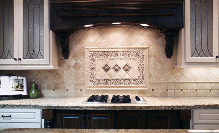 Traditional Travertine Backsplash All Tile Products Are Fr Flickr