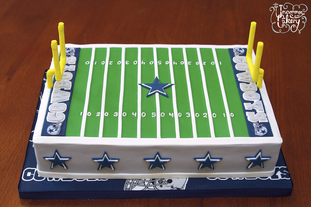 Easy Football Field Cake
