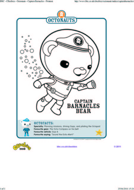 octonauts coloring pages bbc - photo#5