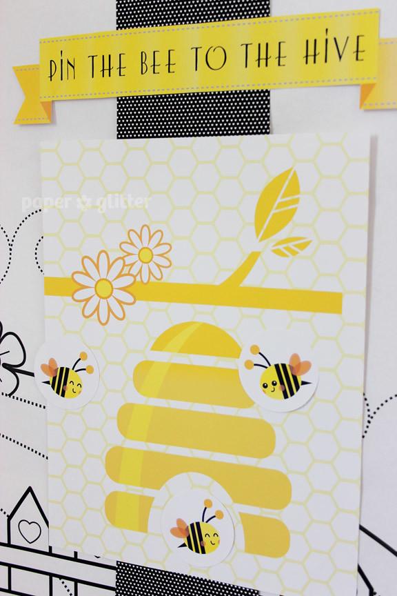 21 printable party printables bee children birthday paper