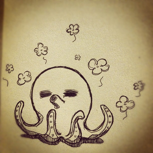 how to draw a cute octopus