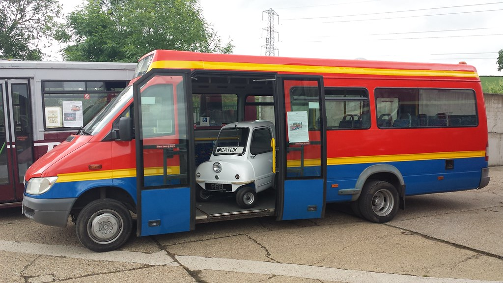 The Smallest Car in the World inside my Bus: Peel P50 onbo ...