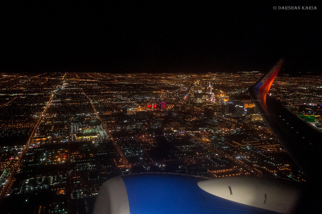 Las Vegas from Airplane... | Las Vegas from Airplane ...