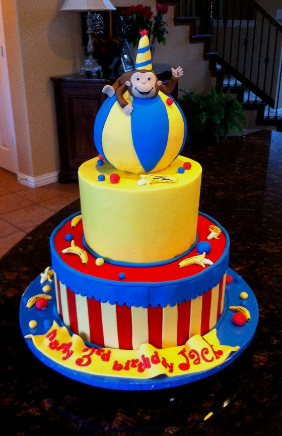 Monkey Circus Cake This Was A Cake For A Sweet Boy