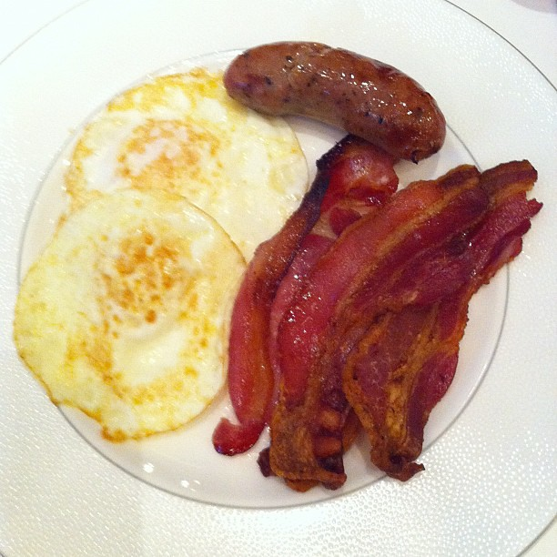 eggs bacon and sausage really really good sausage flickr. Black Bedroom Furniture Sets. Home Design Ideas