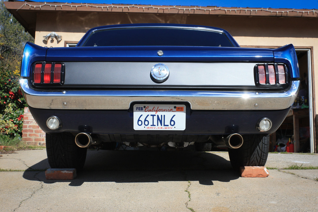 Mustang After Having Done The Tail Light Panel Black Out