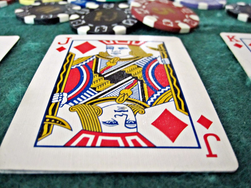 Playing Poker - A jack of hearts in a game of texas holdem ...