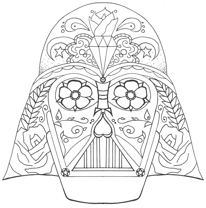 Darth Skull Line This is a tattoo