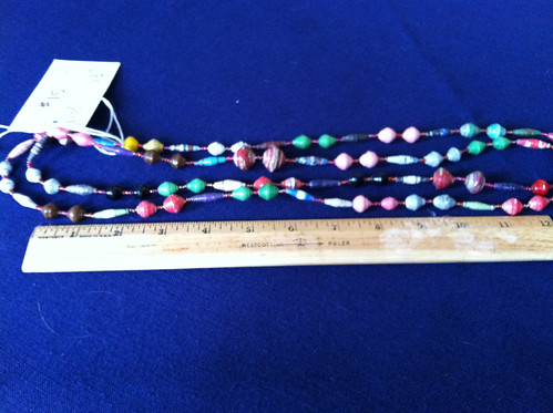 Fair Trade Ugandan Recycled Paper Necklace | by KLCSouthSudan