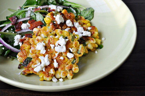 Corn Cakes with Goat Cheese | by Courtney | Cook Like a Champion