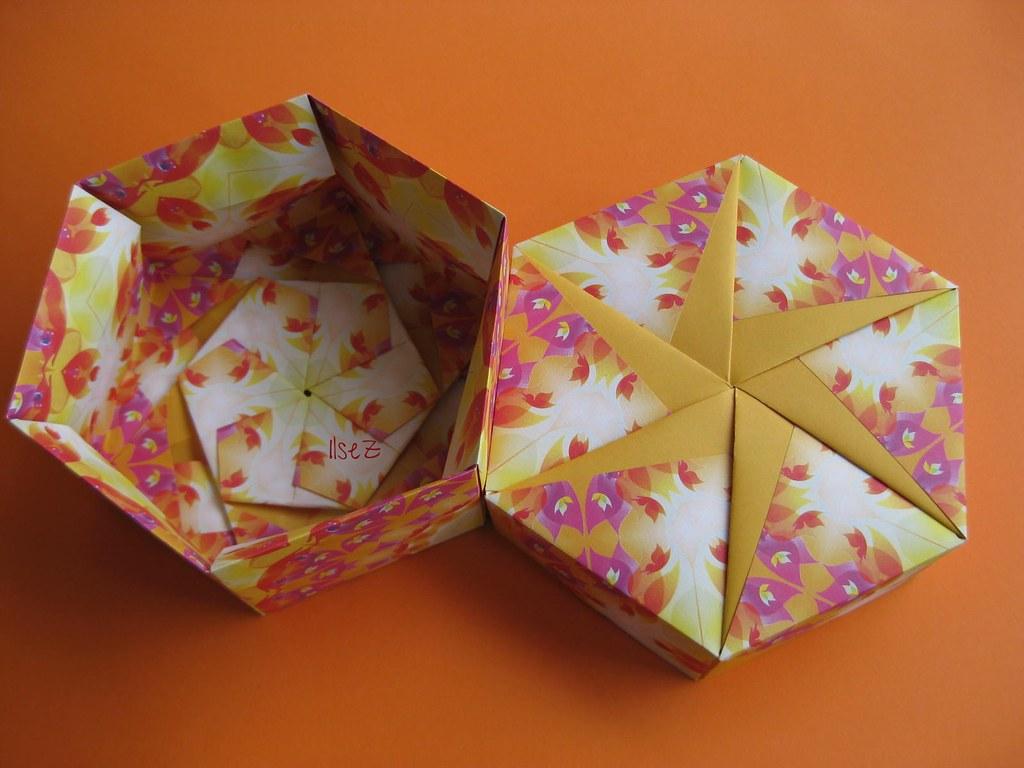 Tomoko Fuse Hexagon Box Instructions : Hexagon box with six petal pinwheel by tomoko fuse flickr