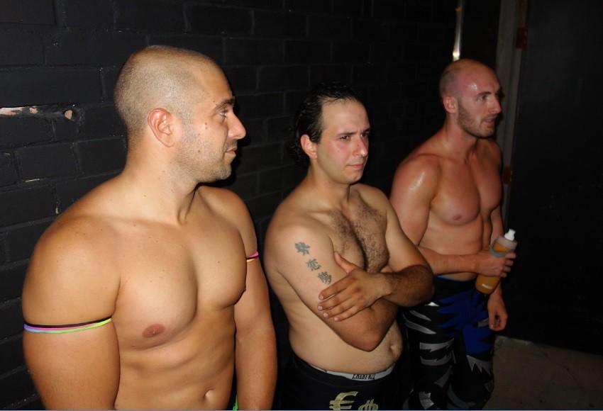 Hogtown Wrestlers behind Super Winder Gallery at Socktoberfest, Oct 1st 2016