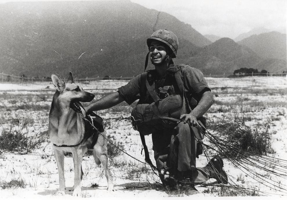Sgt. Spano and Lobo, Da Nang, Vietnam, August 1968 | Flickr