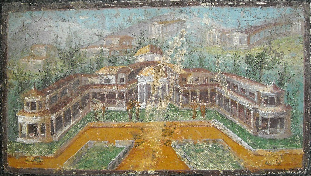 Landscape With Villa Painting 3rd Style Julio Claudian