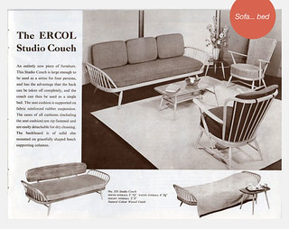 Ercol studio couch vintage advert black-white | by ateliertally