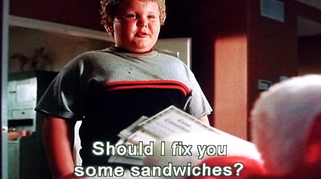 Bad santa sandwiches grandma