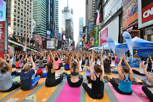 Times Square Yoga | by nyperson