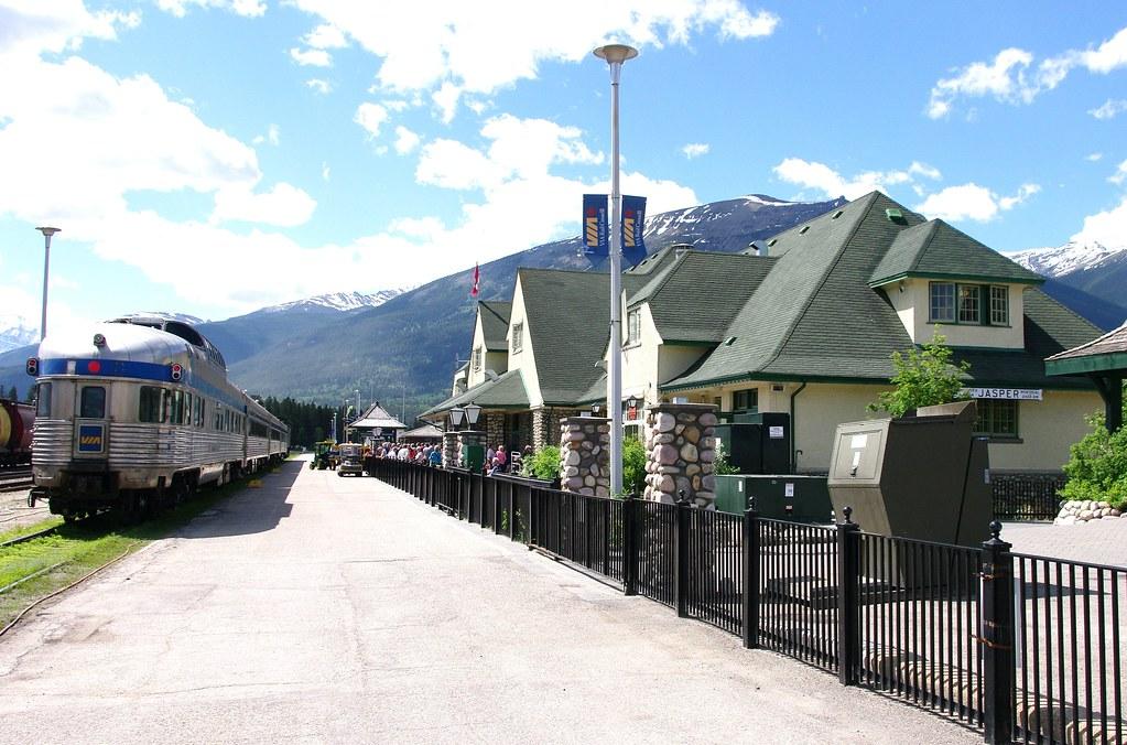 Jasper Ab Via Train Station Built By Canadian National