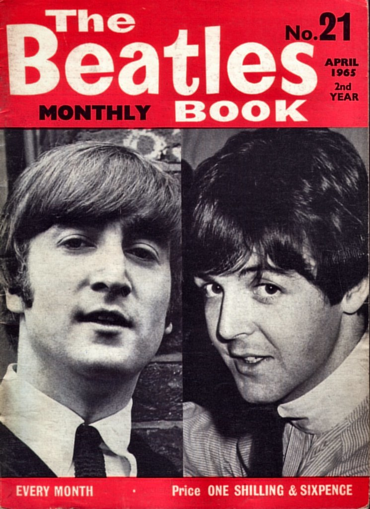 Book Cover Black Beatles ~ Beatles monthly no apr front cover a collection