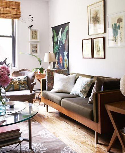 vintage modern living room. good behind the color yellow hgtv with, Living room