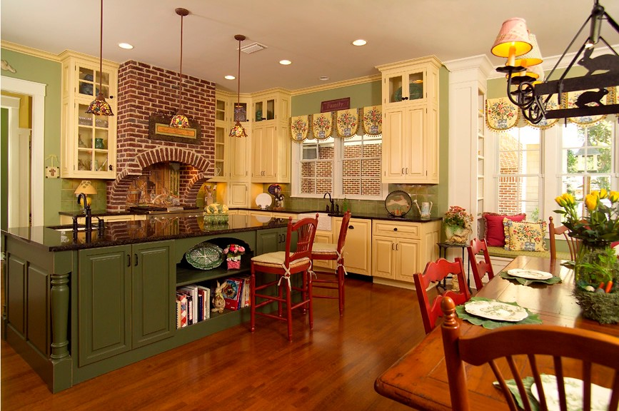 Country kitchen a wonderful example of a country style for J and b kitchen designs