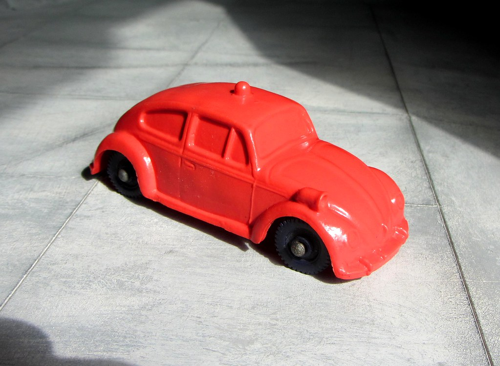 A Toy Rubber Volkswagen Beetle Police Car 1/43 Scale Made … | Flickr