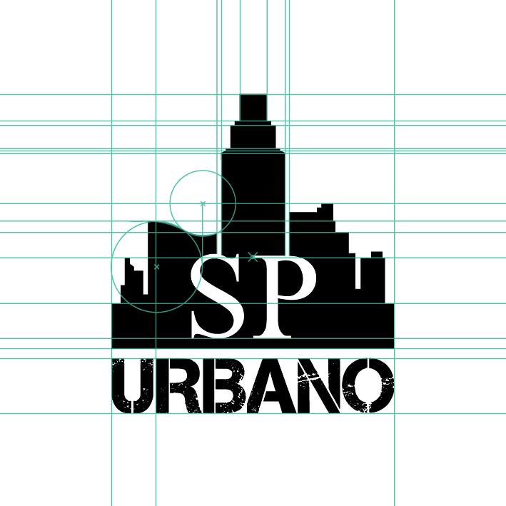 Arte Urbano Logo Malha Construtiva Logo São