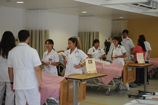 CI nursing students at the Nursing Lab Open House | by California State University Channel Islands