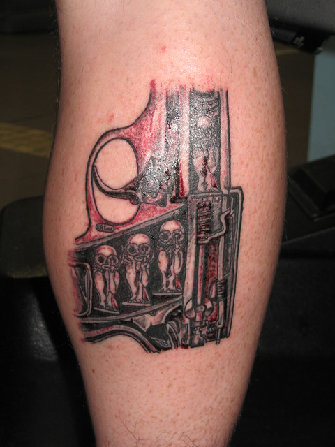 H.R.Giger inspired Tattoo.... | Flickr - Photo Sharing!
