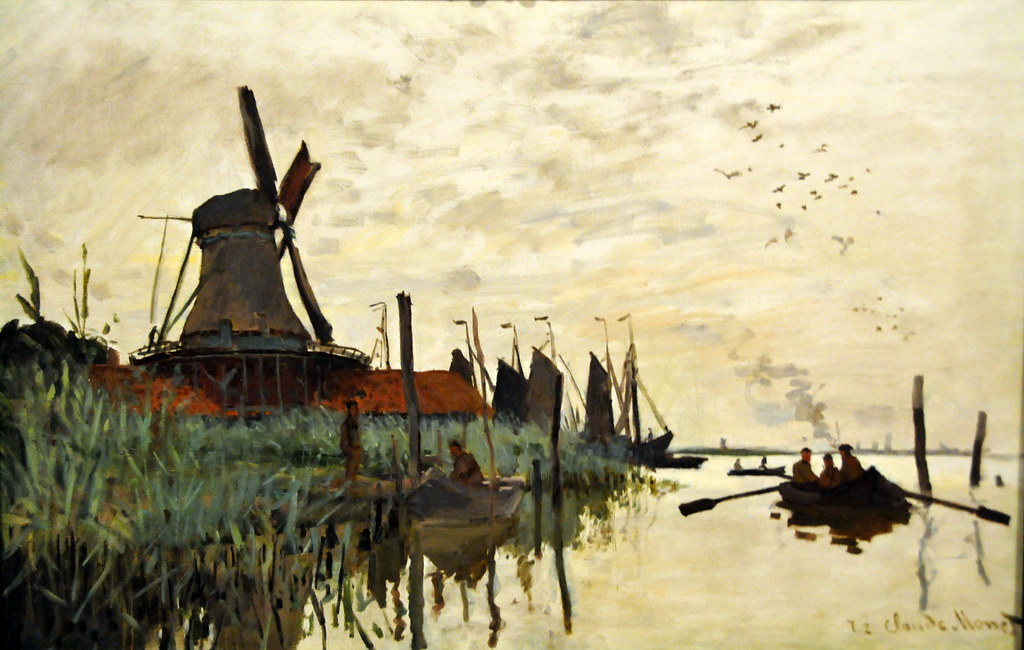 Claude Monet - Windmill and Boats near Zaandam, Holland - u2026 : Flickr