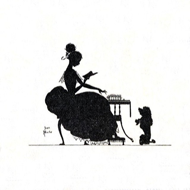 Poodle Head Silhouette Poodle silhouette woman and