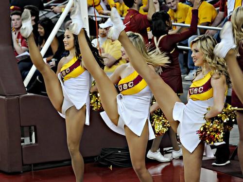 USC Song Girls Kick   bloodyeyeballs   Flickr