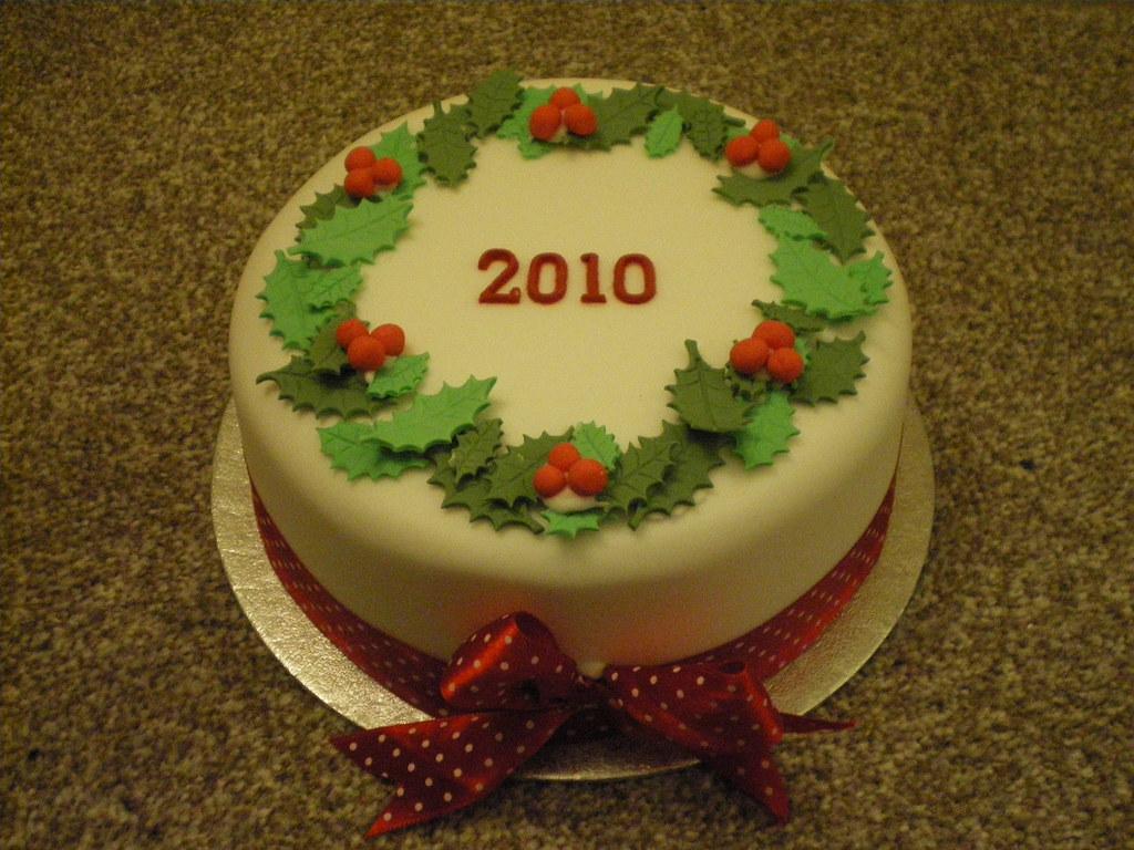 White Fruit Christmas Cake