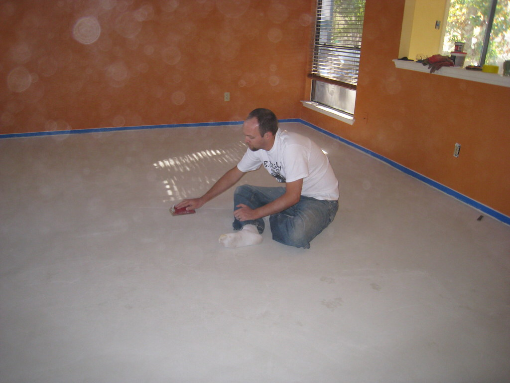 img 4698 sanding the concrete carl knutson flickr. Black Bedroom Furniture Sets. Home Design Ideas