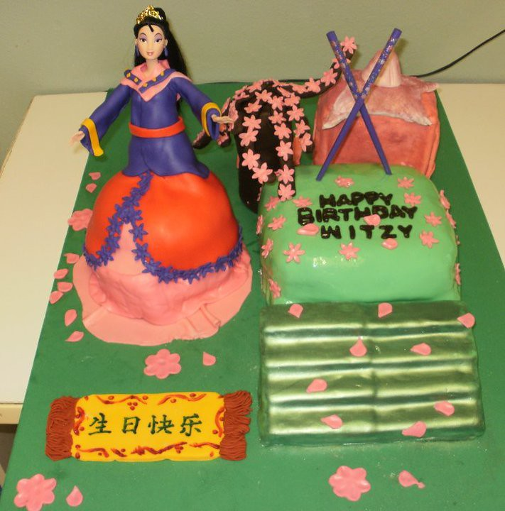 Enjoyable Mulan Cake Petite Fleurbk Flickr Funny Birthday Cards Online Alyptdamsfinfo