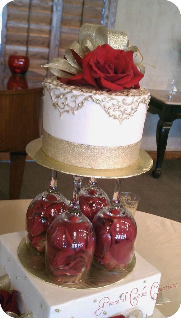 Ivory Wedding Cake Flower Topper Edible