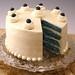 Towering Blue Velvet Cake, sliced