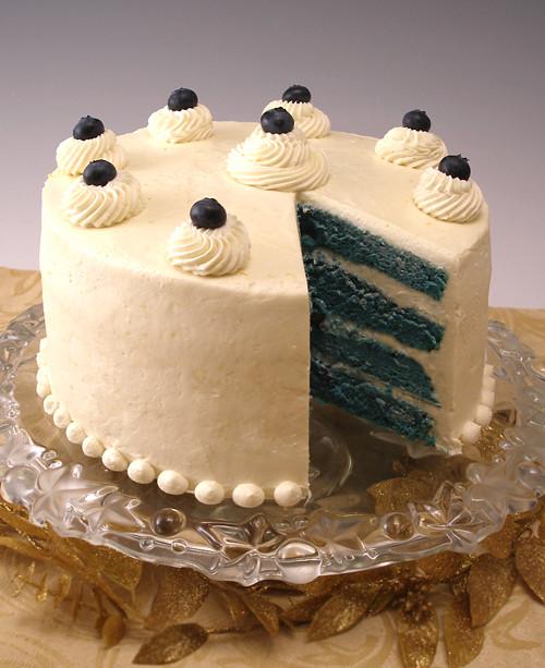 Blue Velvet Cake With Blueberries