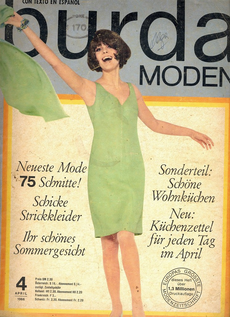 Burda April German Fashion Magazine Burda Moden April