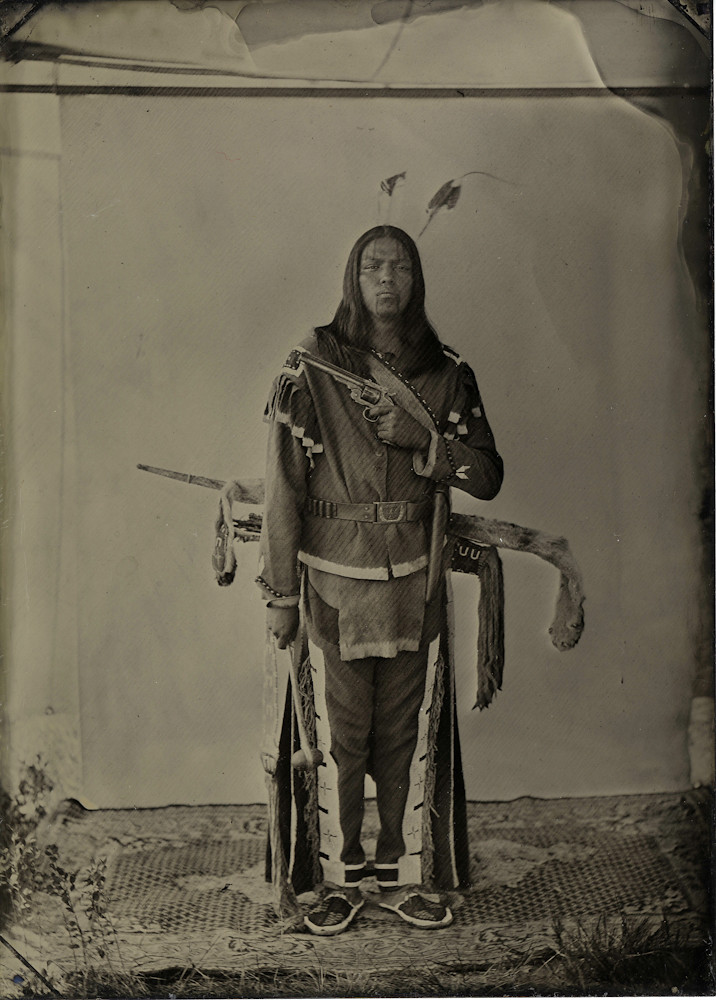 Lakota Warrior In Cloth Jacket Thomas Rides Horse Flickr