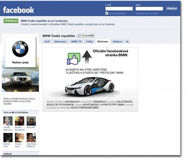 Správa facebook profilu bmw česká republika