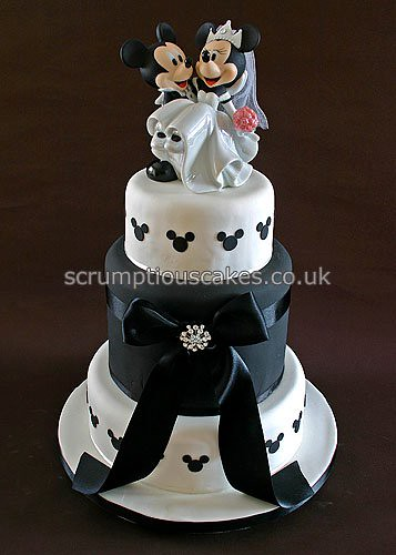 Wedding Cake 698 Mickey Amp Minnie A 6 2 X 8 Amp 10